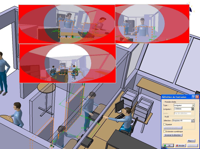 2 CATIA V5 amenagement espace Validation hauteur