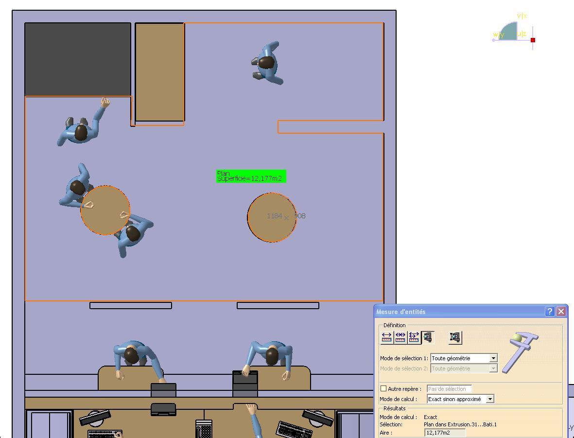 3 CATIA V5 amenagement espace Validation surface