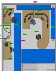 10-Vue du dessus des espaces de circulation proposes lors de letude ergonomique