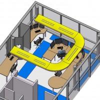 8-Vue 3D du systeme declairage indirect propose lors de letude ergonomique